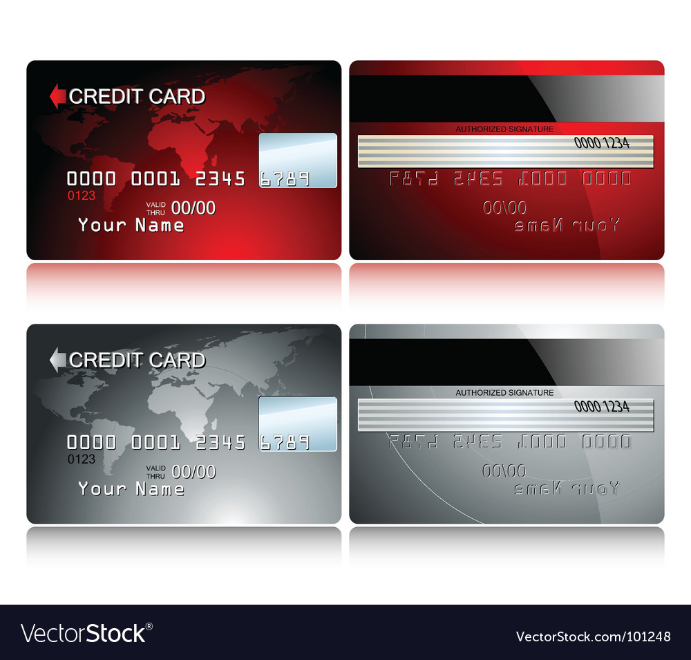Card credit vector image