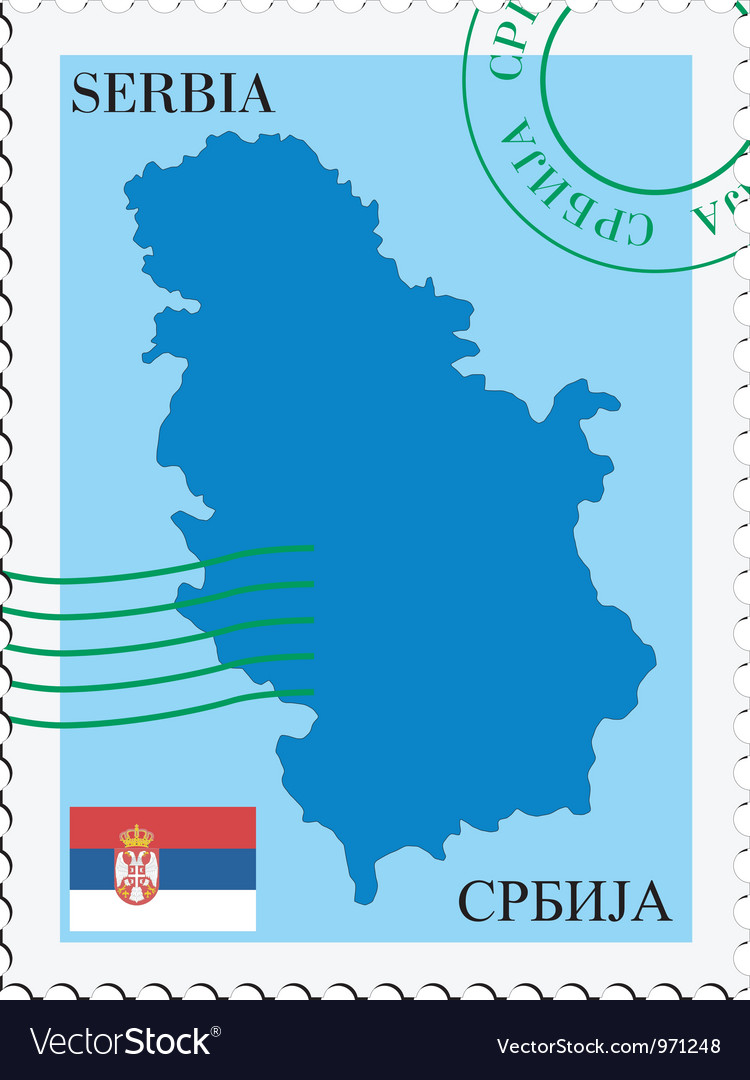 Mail to-from Serbia Vector Image