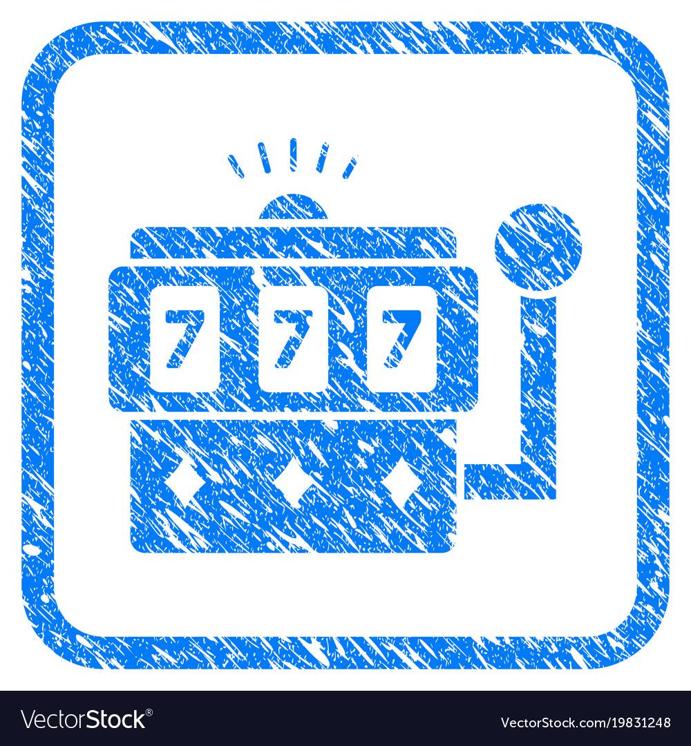 Casino machine framed grunge icon vector image