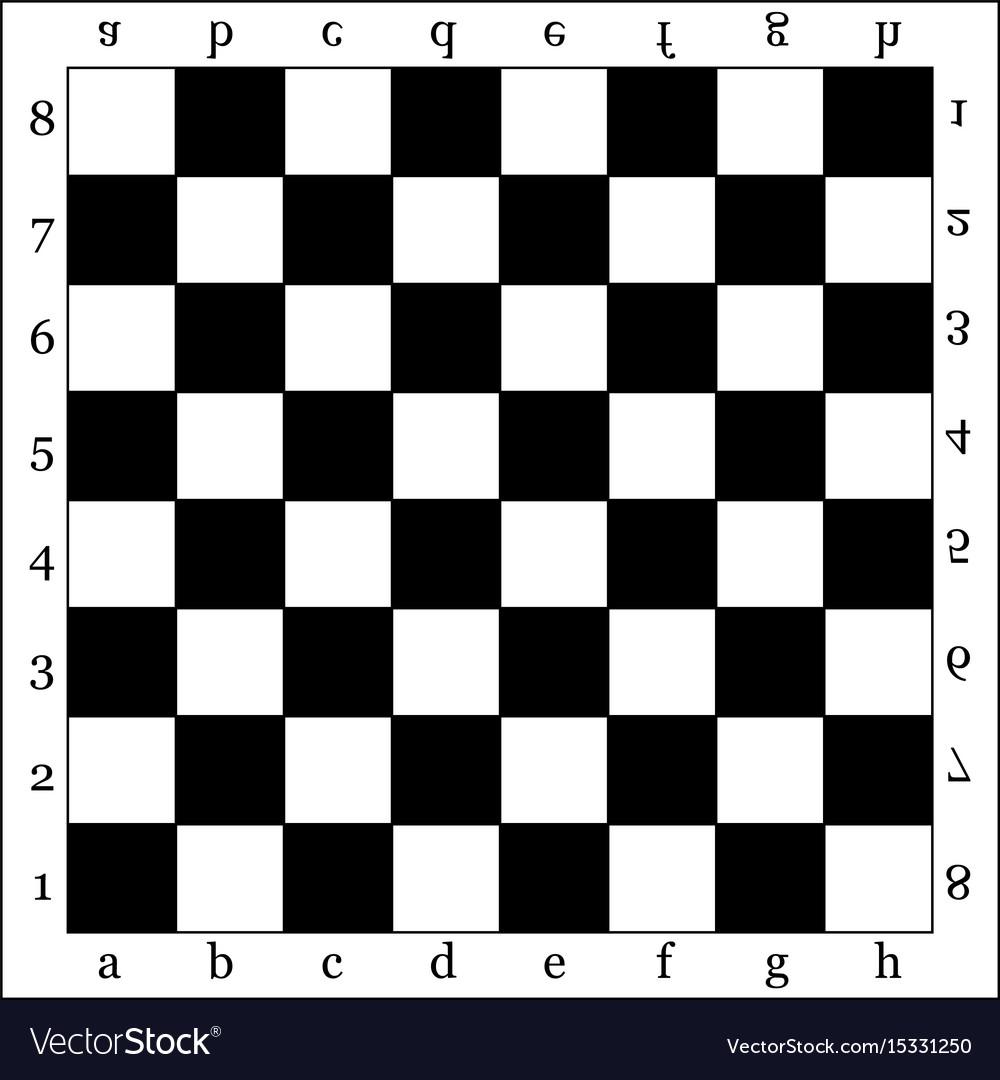 Chessboard vector image