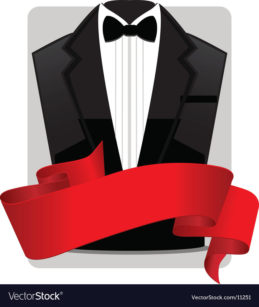 Tuxedo with banner vector image