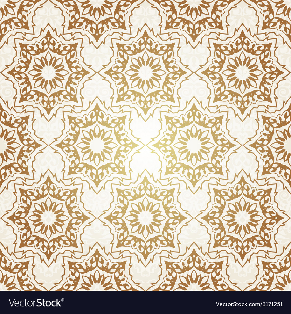 decorative seamless pattern in ottoman motif vector image - decorative seamless pattern in ottoman motif vector image
