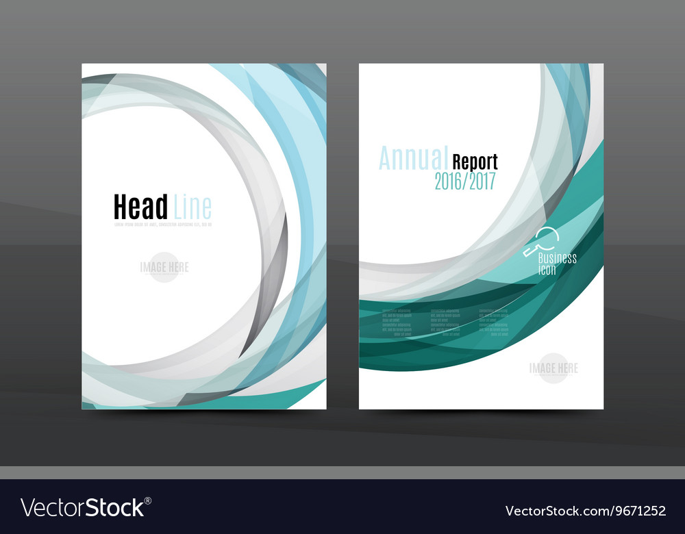 Colorful Swirl Design Annual Report Cover Template Vector Image  Annual Report Cover Template