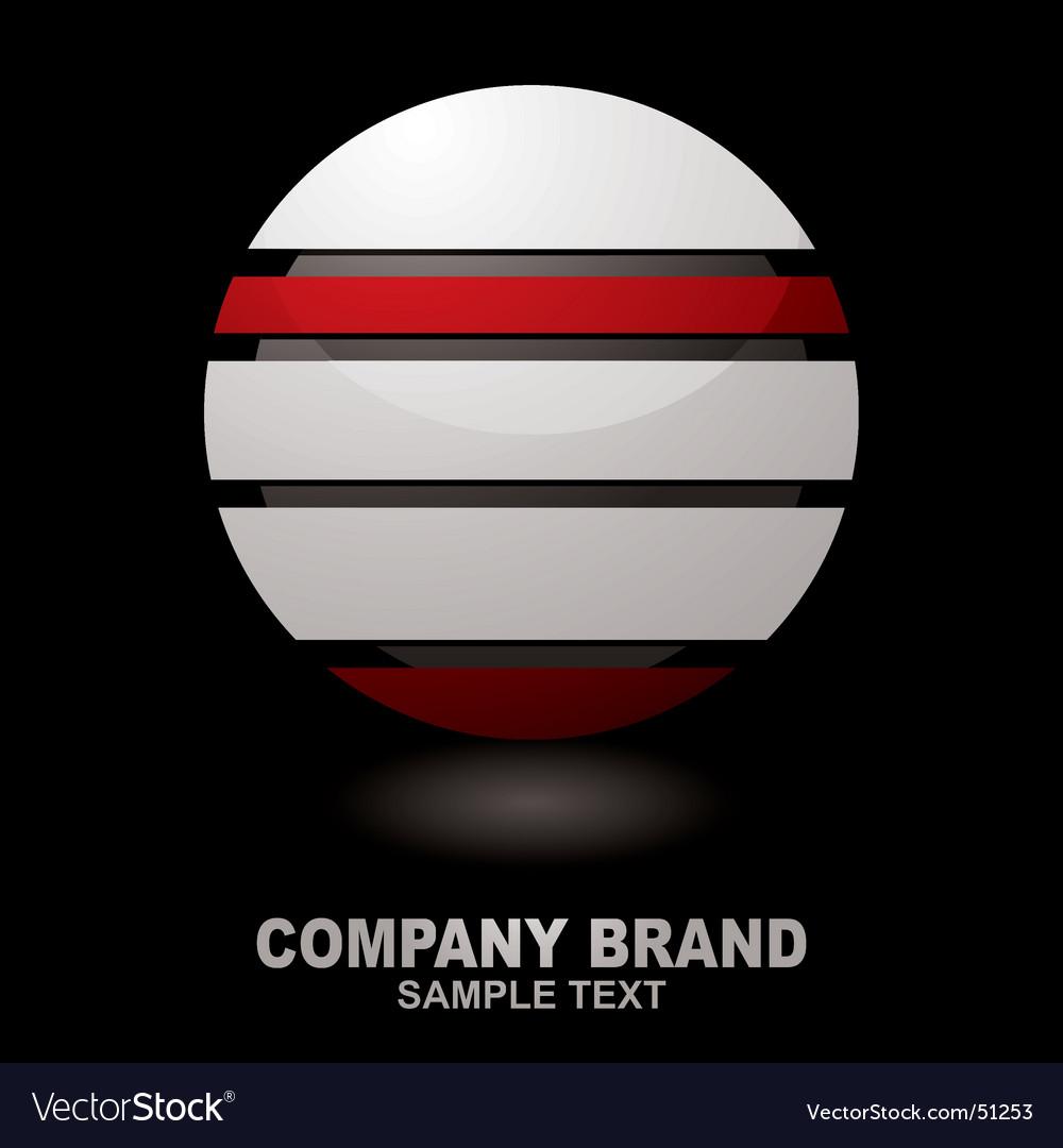 Graphic company logo vector image
