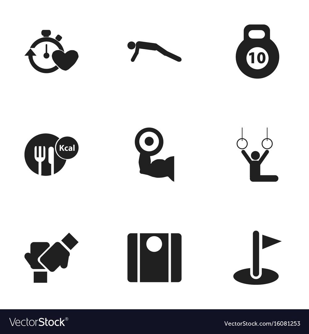 Set of 9 editable sport icons includes symbols vector image set of 9 editable sport icons includes symbols vector image biocorpaavc