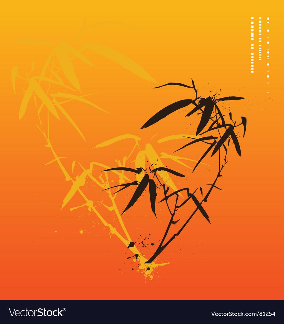 Bamboo print vector image
