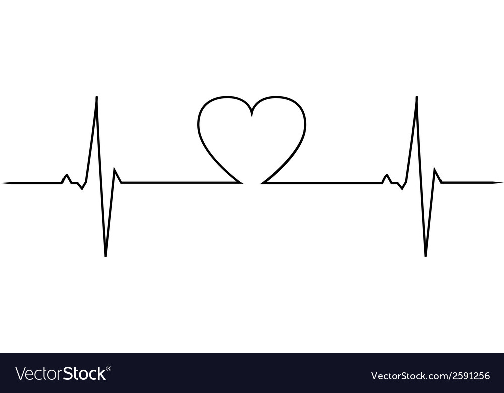 Love heart beat vector image