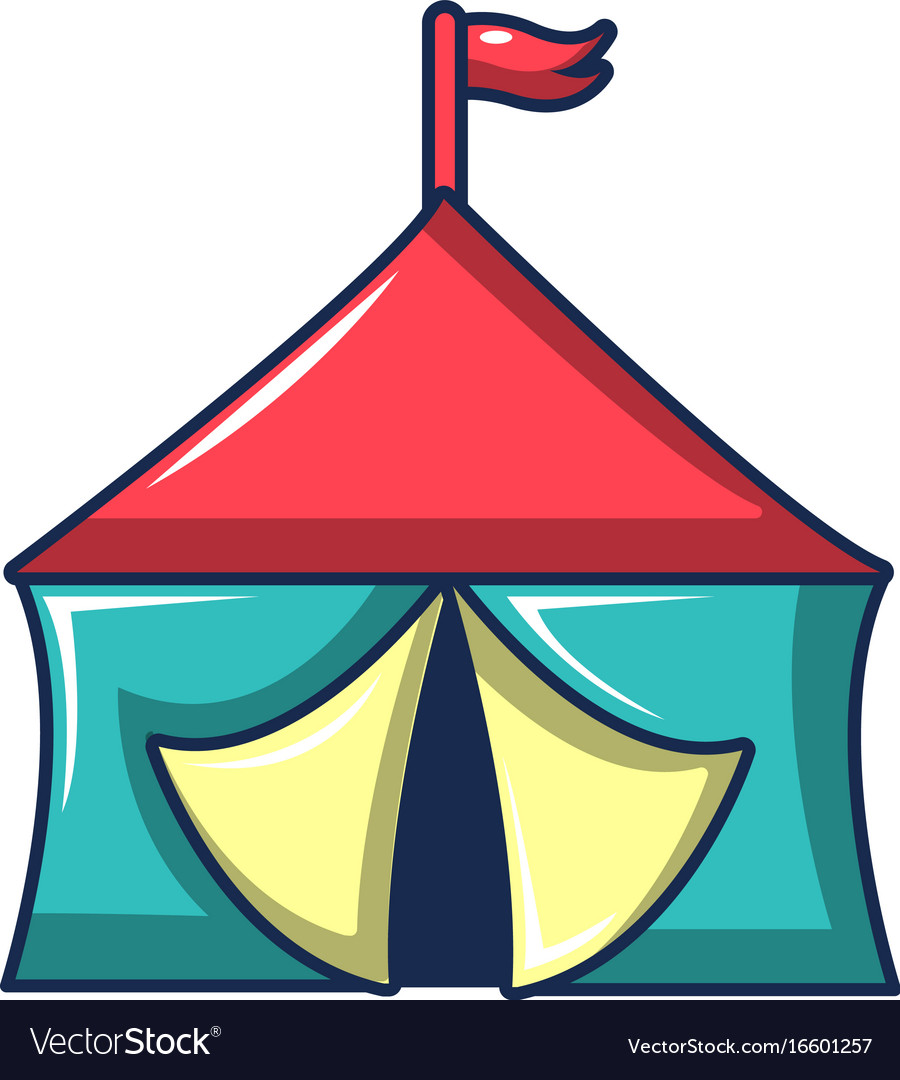 Circus tent icon cartoon style vector image  sc 1 st  VectorStock & Circus tent icon cartoon style Royalty Free Vector Image