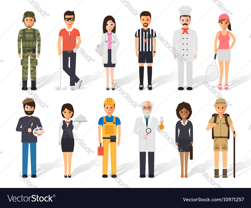 Occupation profession people vector image
