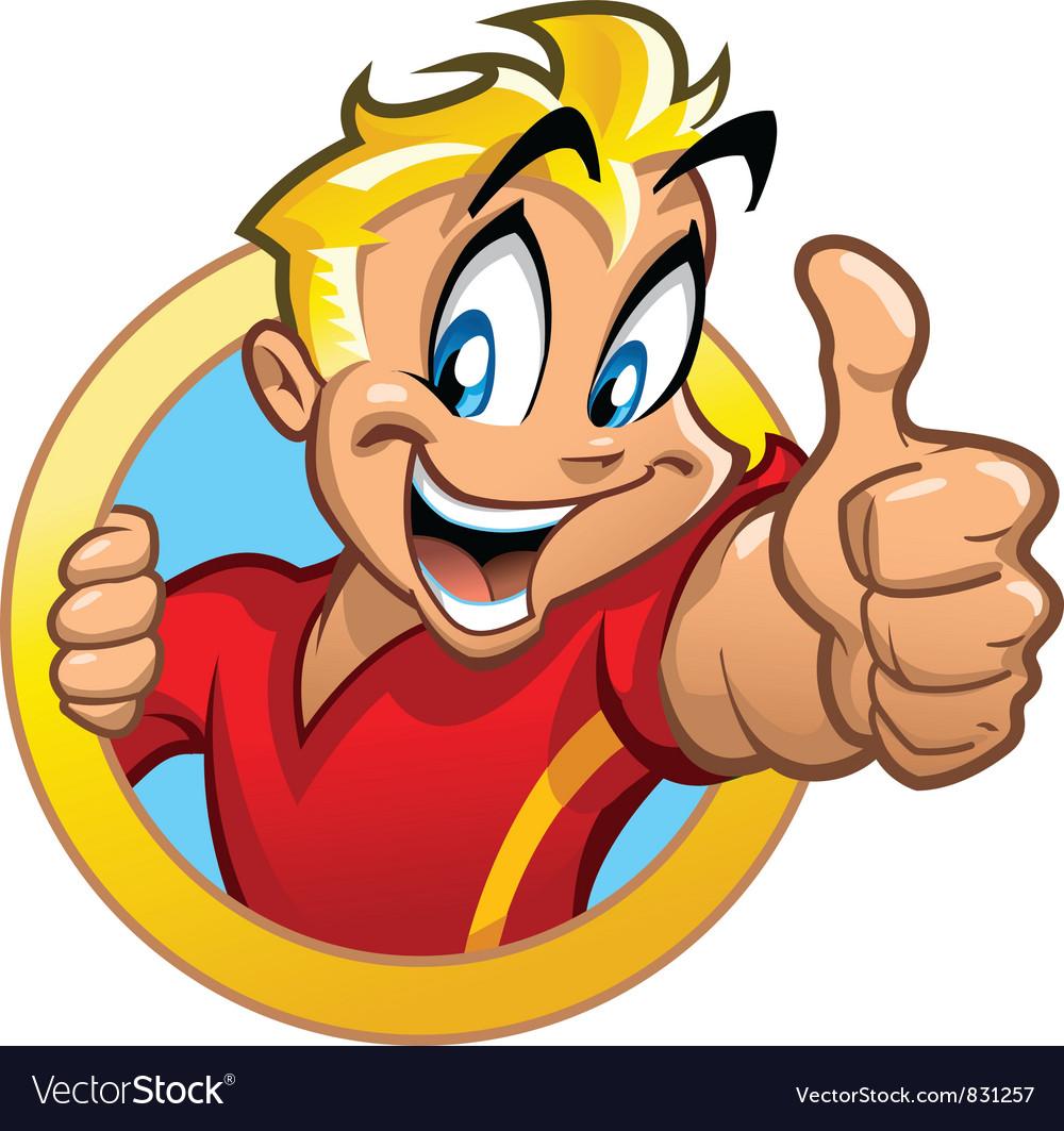 Thumbs Up Kid vector image