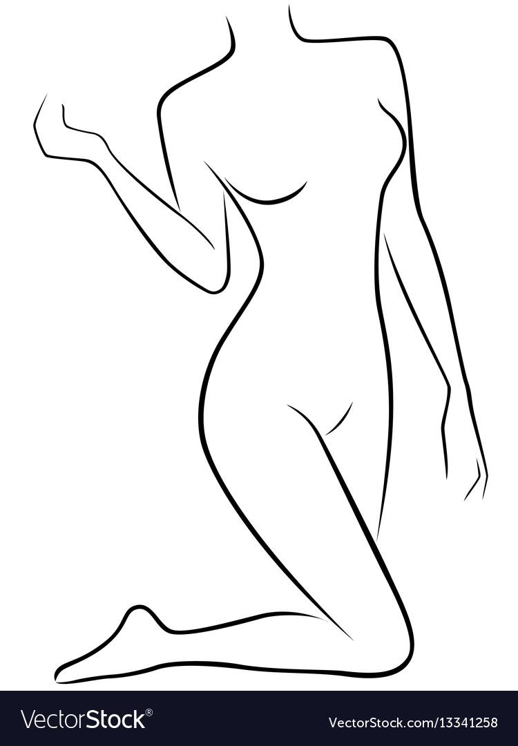 Lower part of slender female body vector image