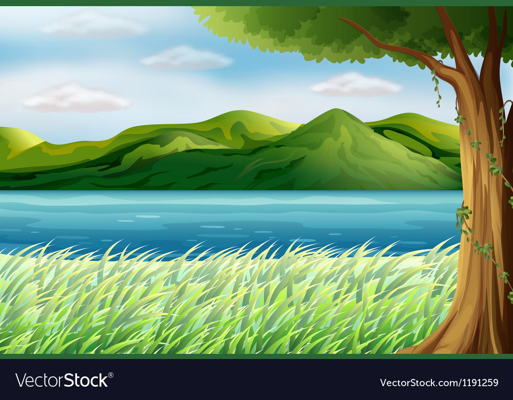 The blue sea Vector Image