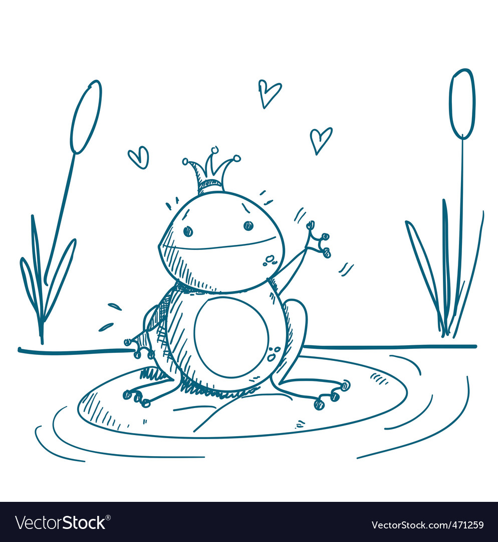frog drawing royalty free vector image vectorstock