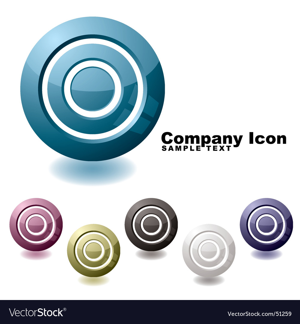 Target variation icon vector image