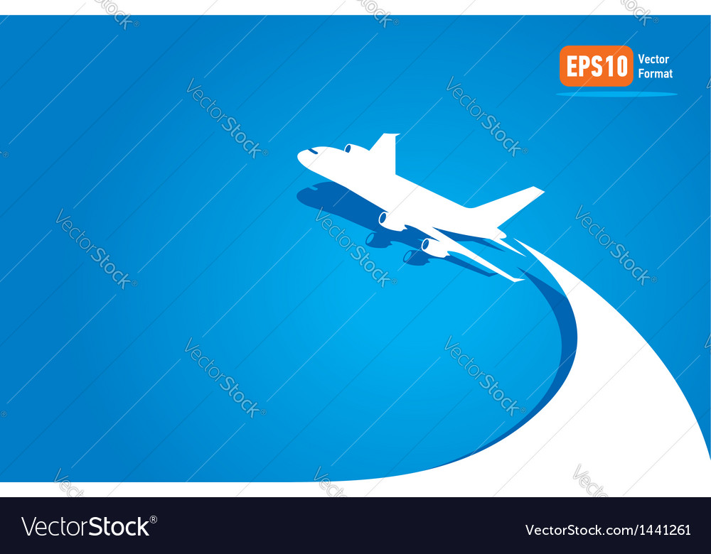 Airplane flight tickets air fly cloud sky blue tra Vector Image