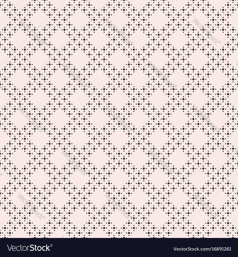 Geometric texture dots in diagonal grid vector image