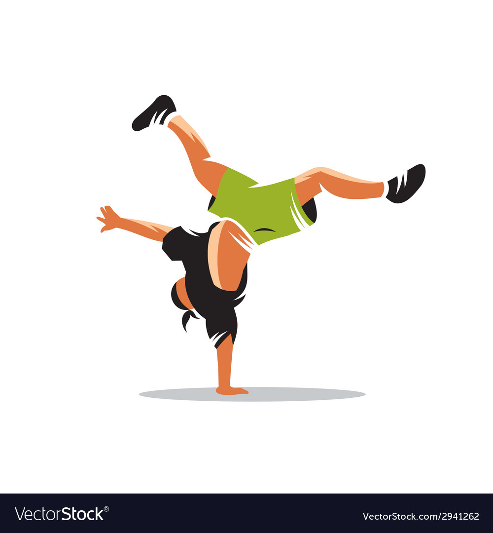Breakdance sign vector image