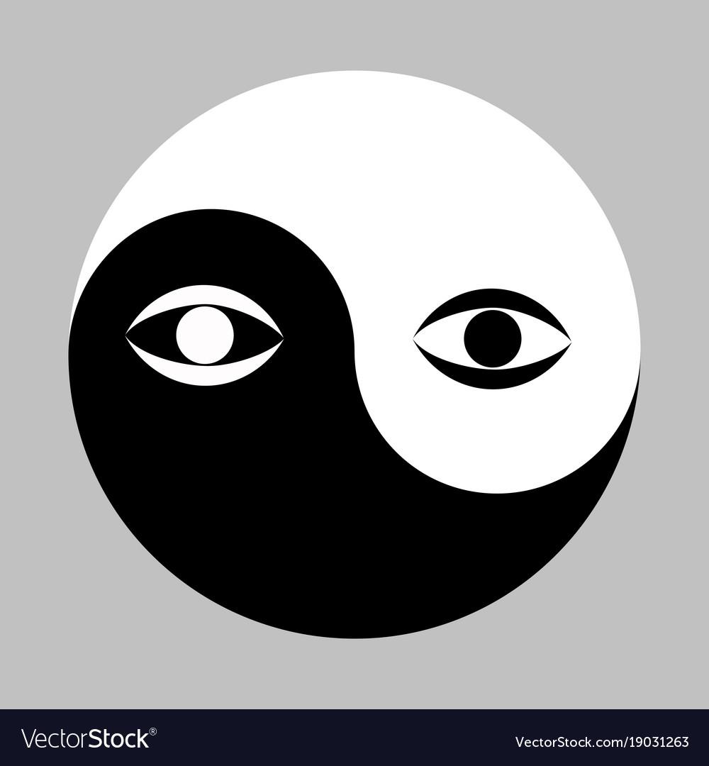 Yin yang symbol and eye royalty free vector image yin yang symbol and eye vector image buycottarizona Choice Image