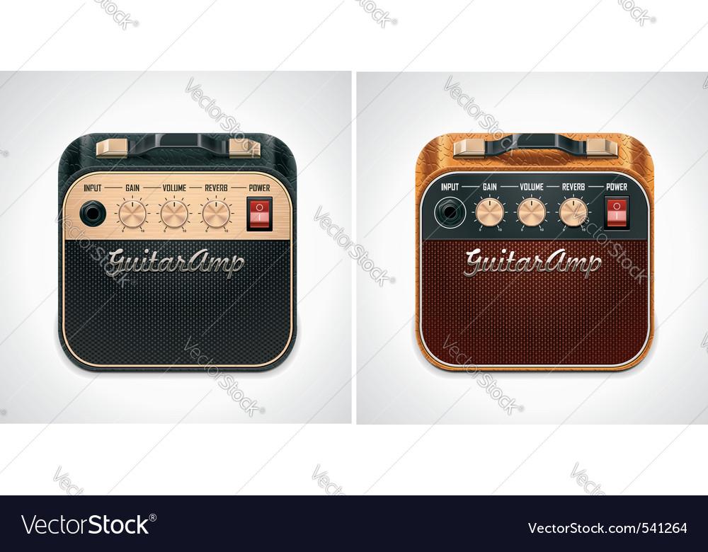 Guitar amplifier square icon Vector Image