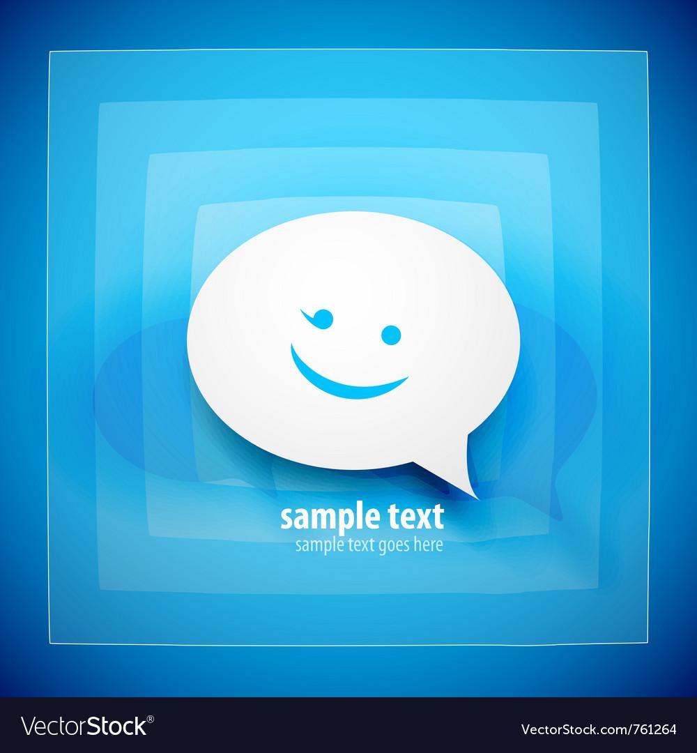 Blue speech bubble background vector image