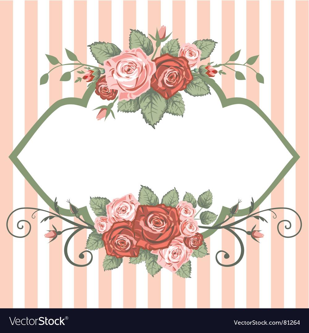 Roses vintage vector image