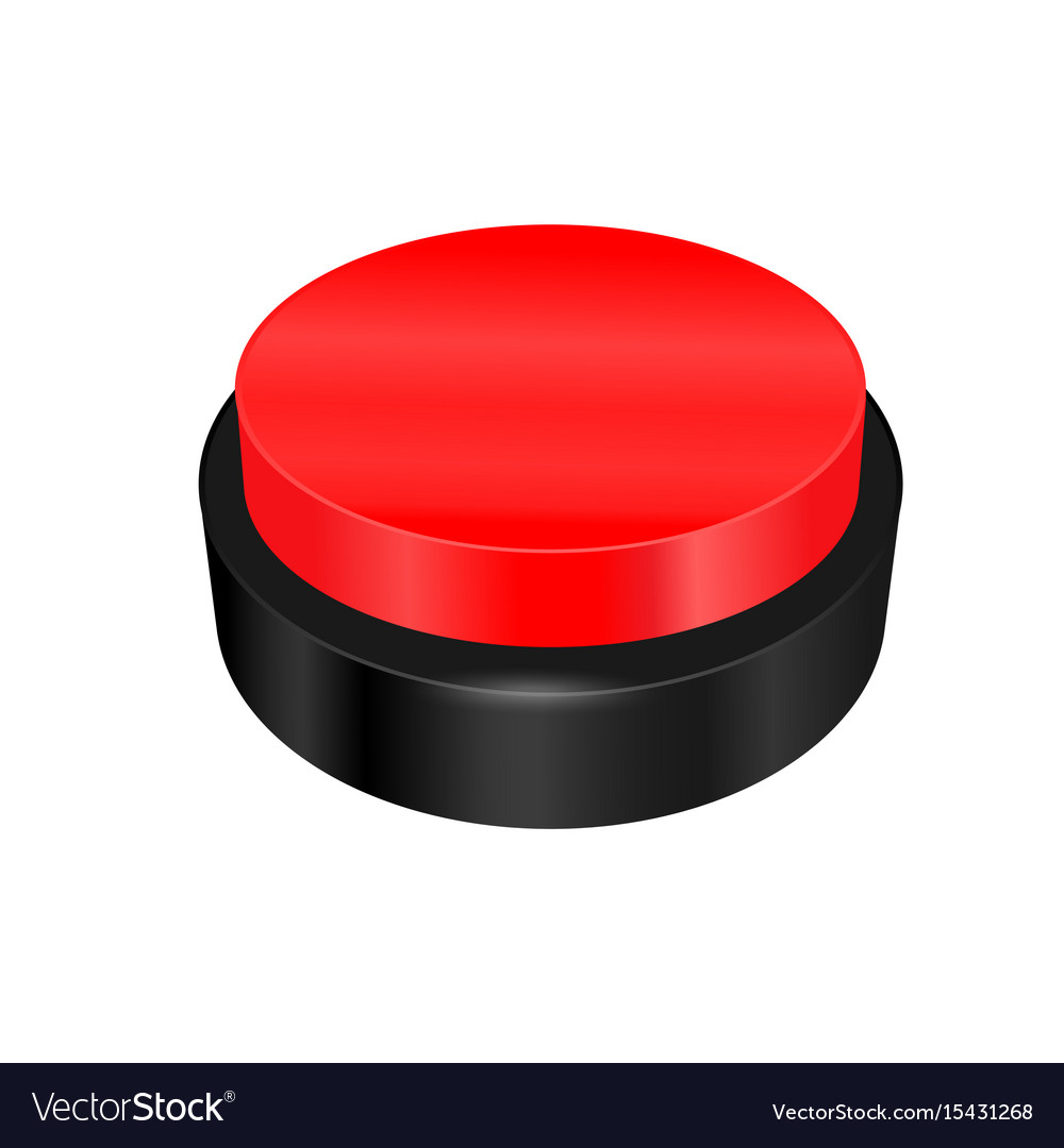 Warning sign button vector image