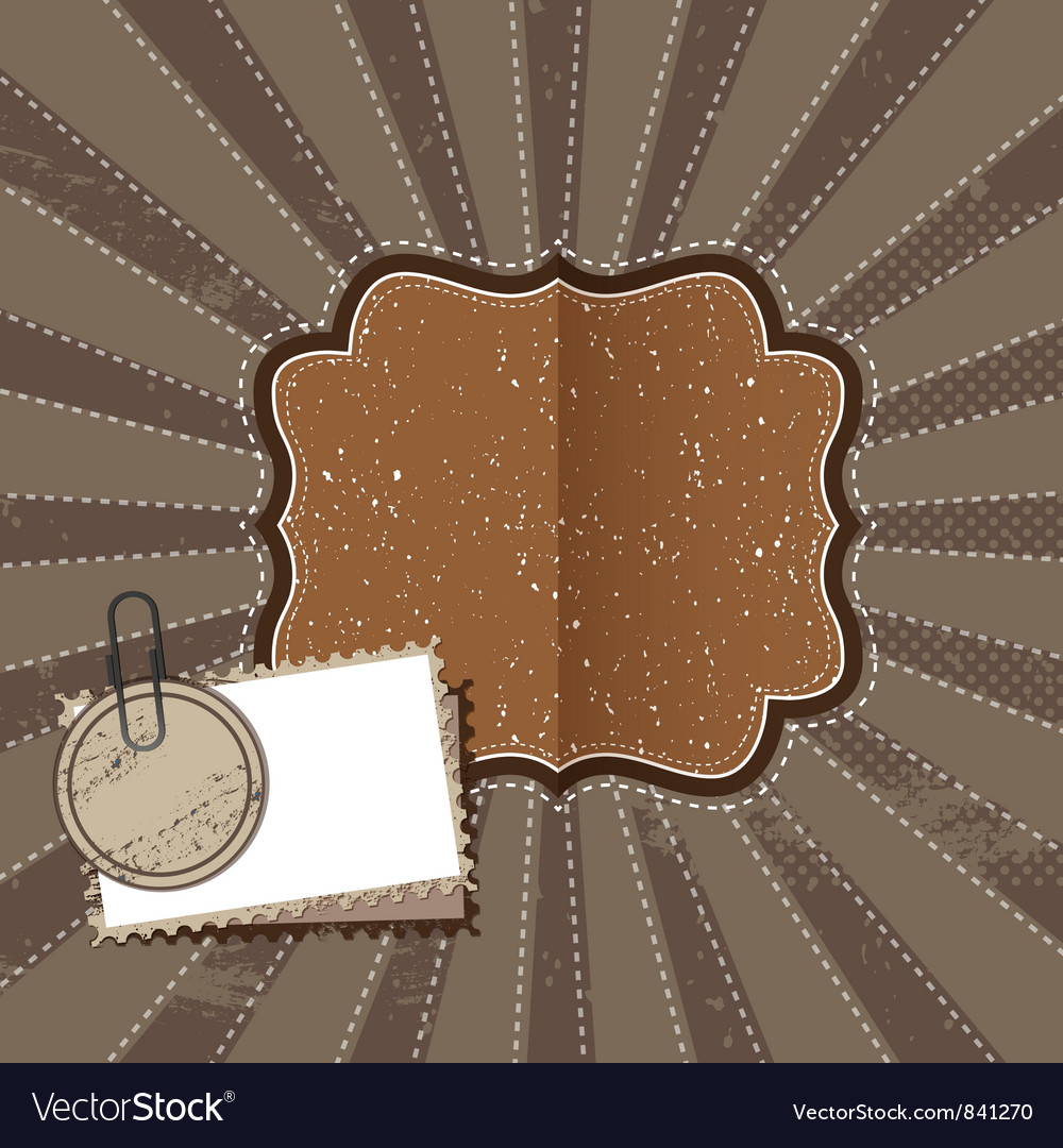 Beige vintage greetings vector image