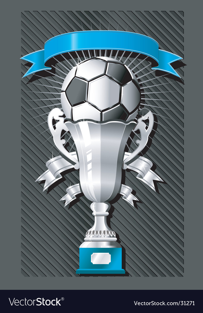 Soccer football emblem vector image