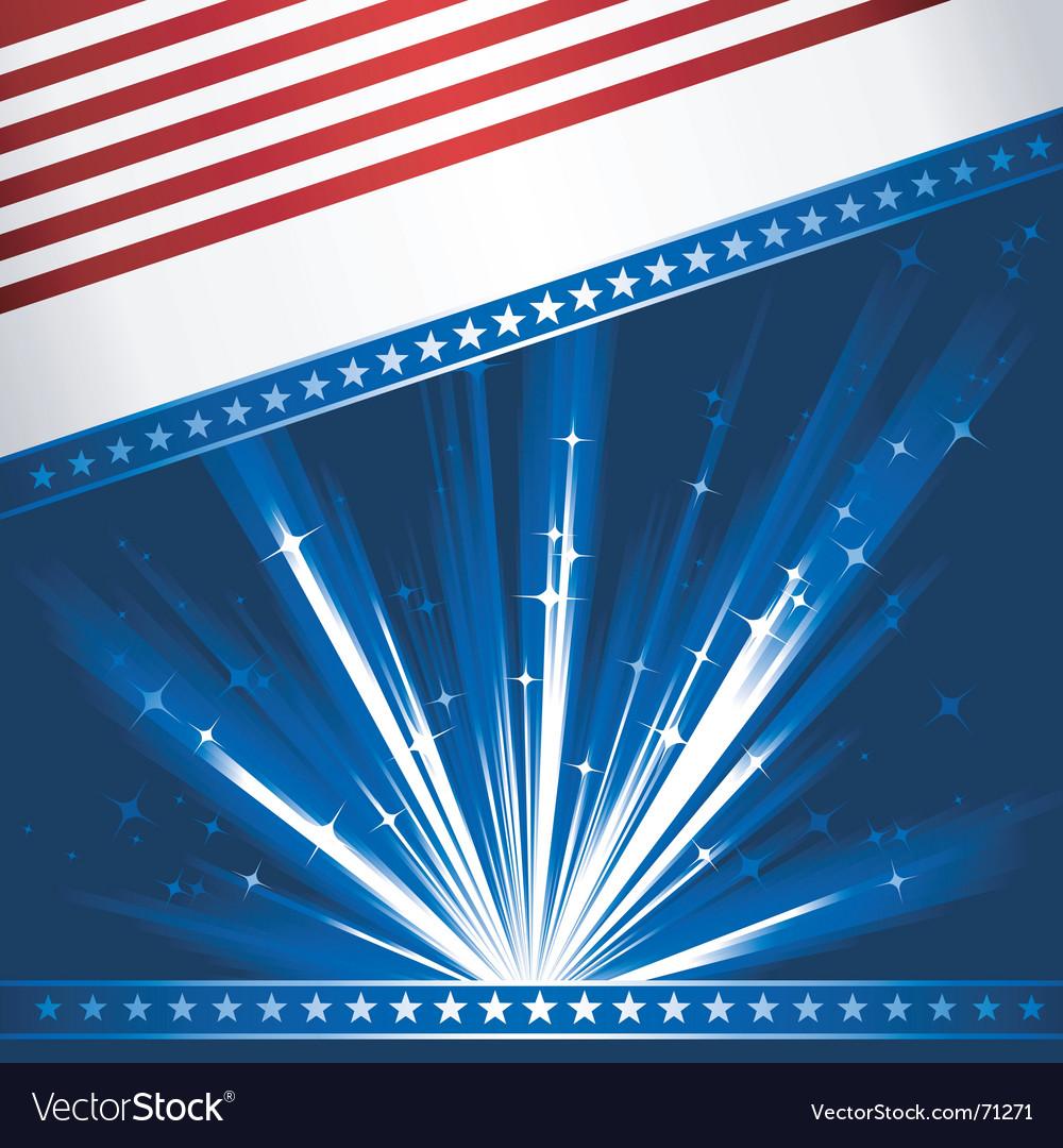 Stylized USA flag vector image