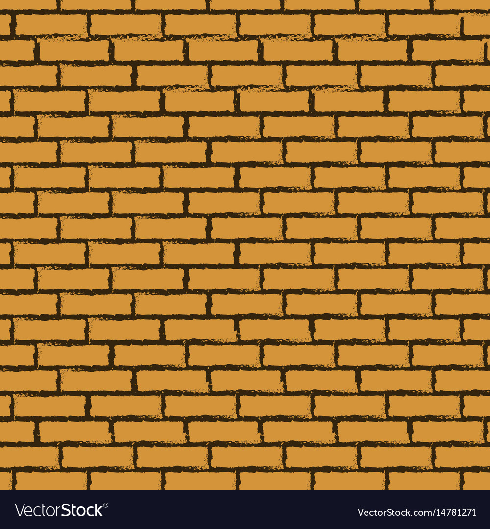 Black outline brick wall vector image