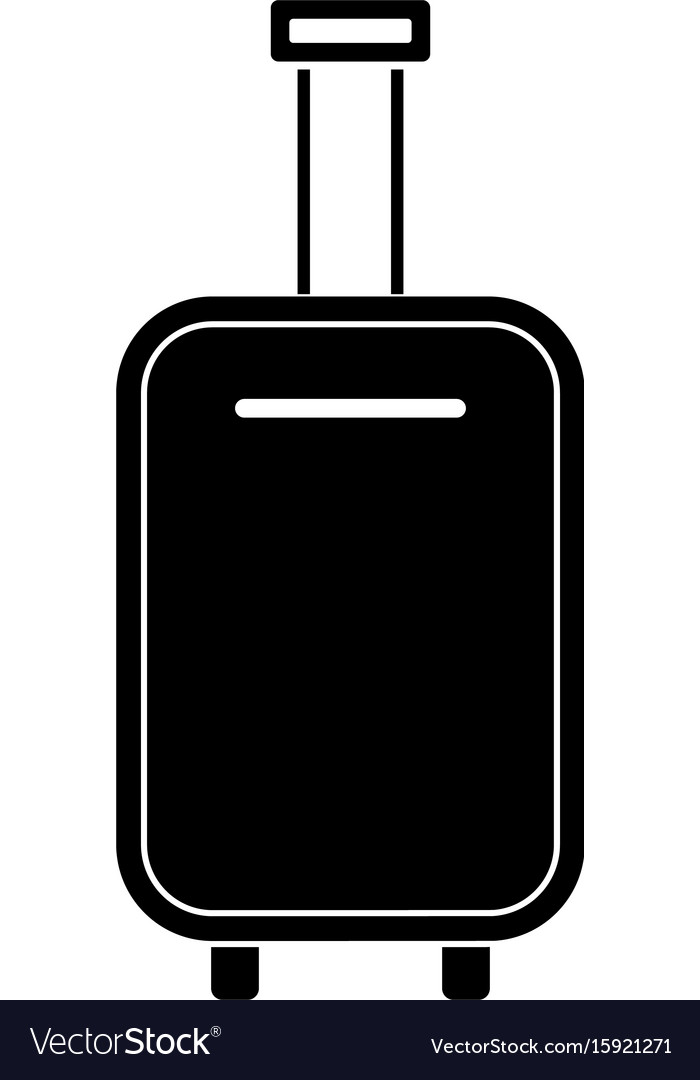 Luggage bag black color icon vector image