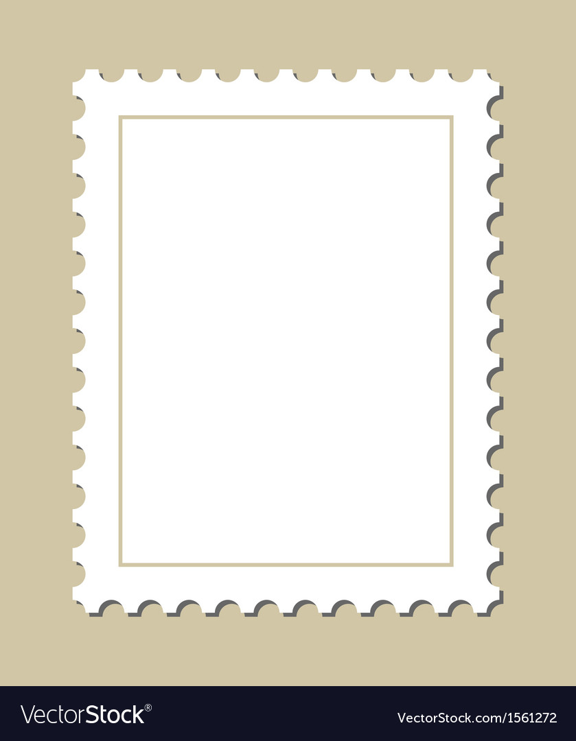 Blank Postage Stamp Royalty Free Vector Image Vectorstock