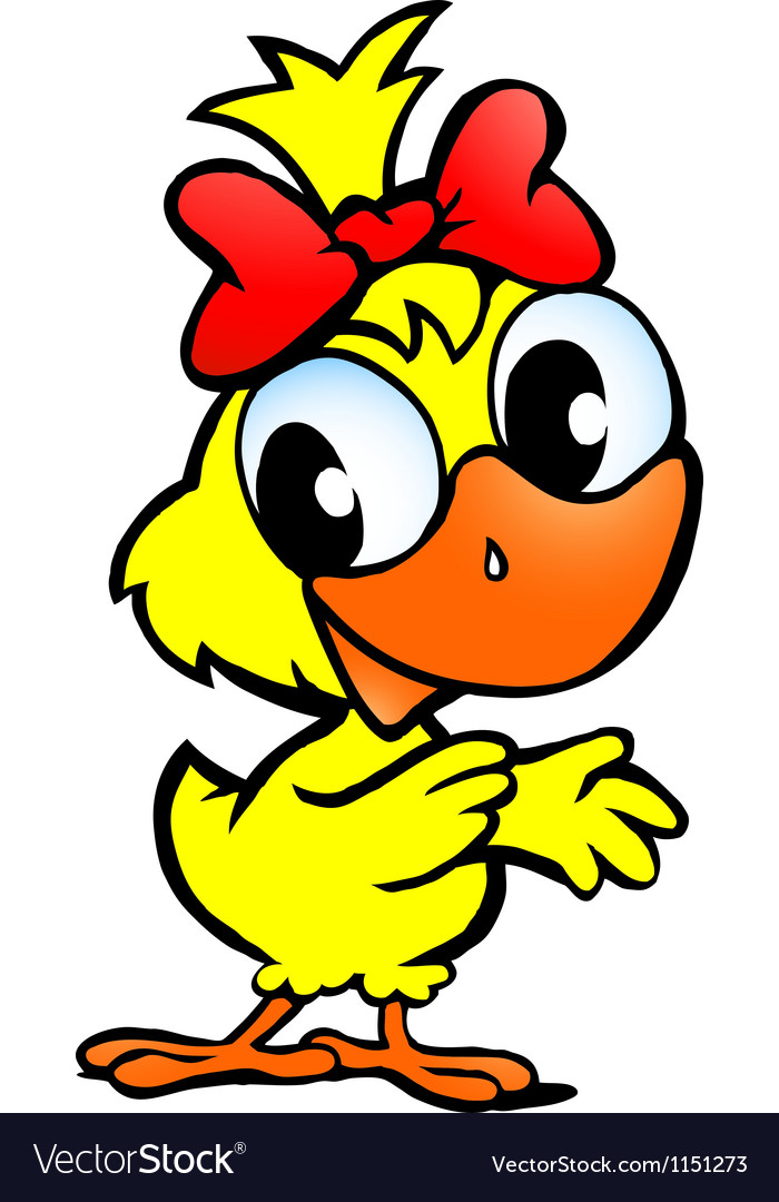 Hand-drawn of an cute chicken baby Vector Image