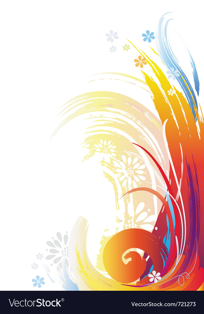 Background of color brush strokes vector image