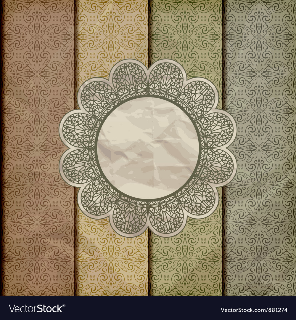 Seamless floral borders vector image