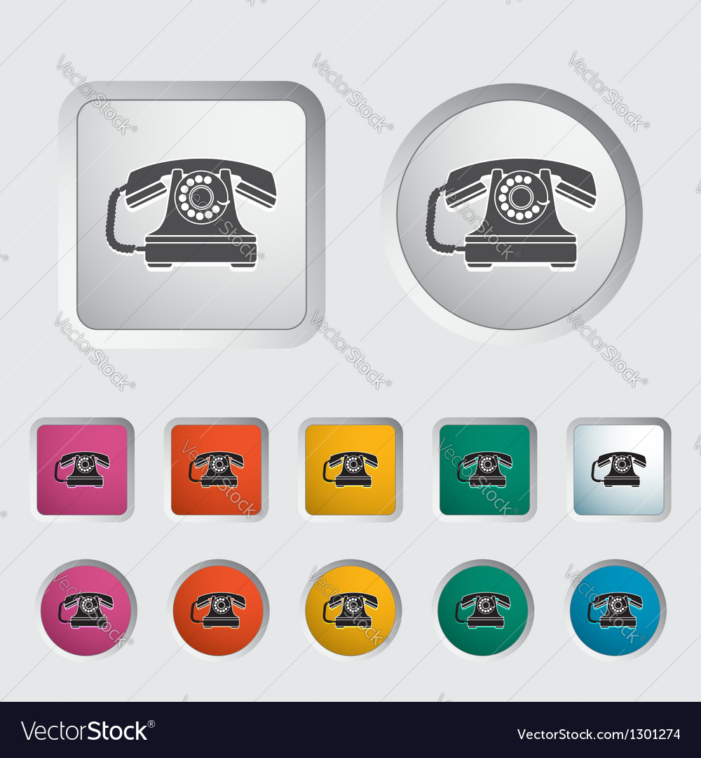 Vinage phone vector image