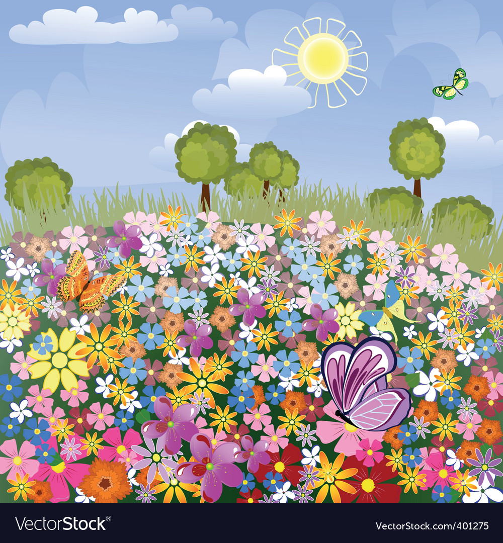 Flower airfield vector image
