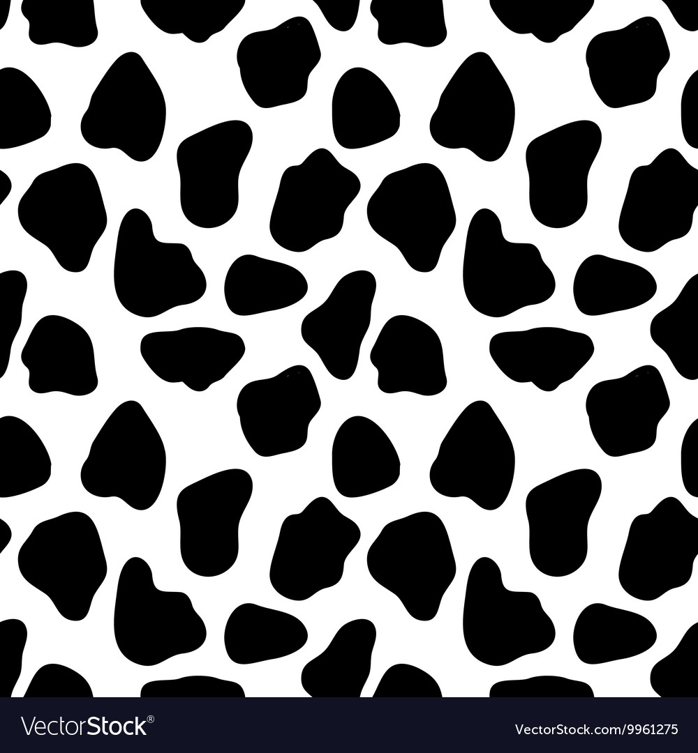 Cow seamless pattern abstract background vector image