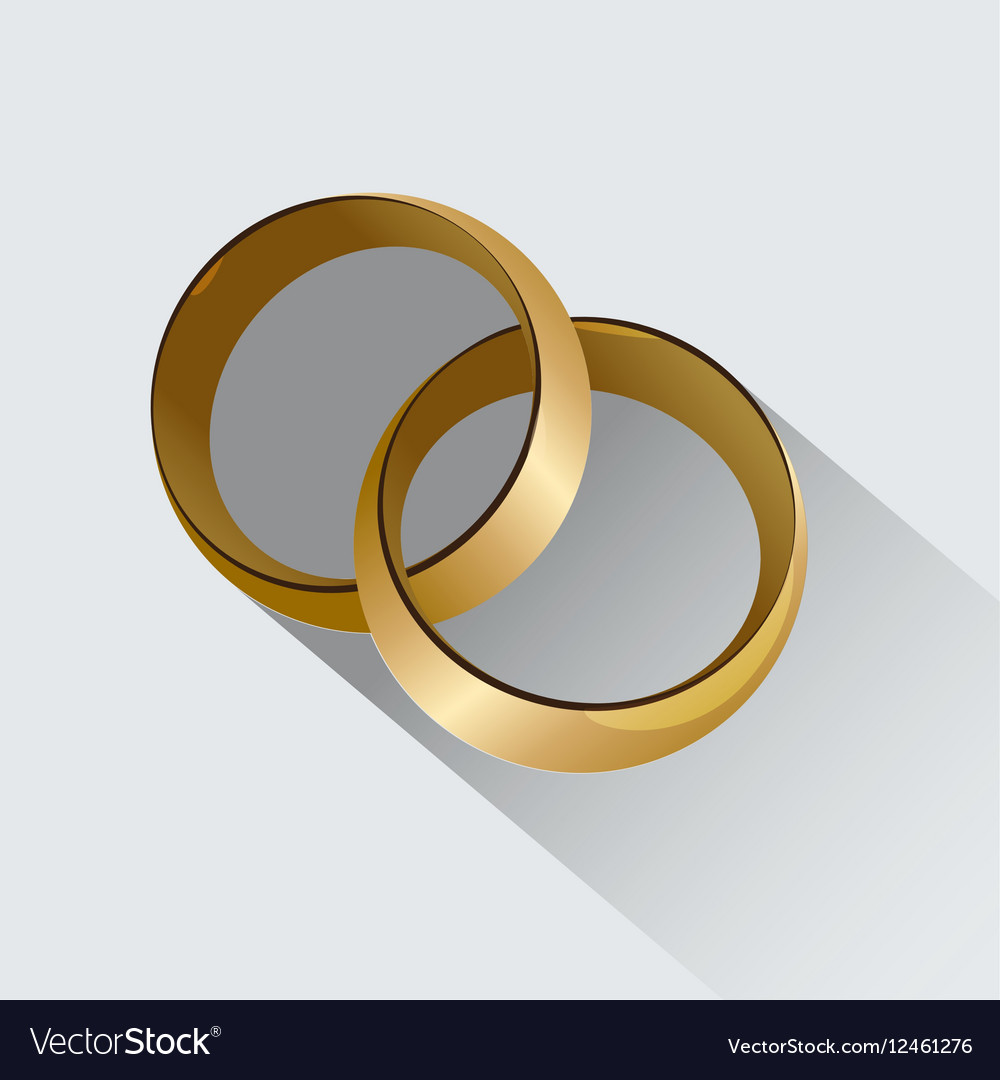 Two Wedding Rings Symbol Of Love Royalty Free Vector Image