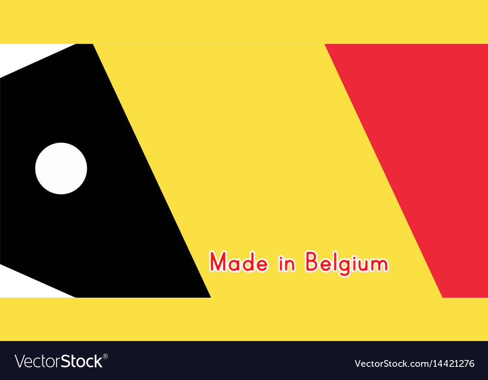 Belgium flag on price tag with vector image