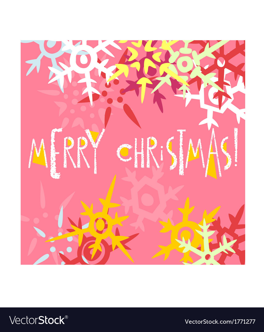 Christmas greeting card postcard editable template vector image