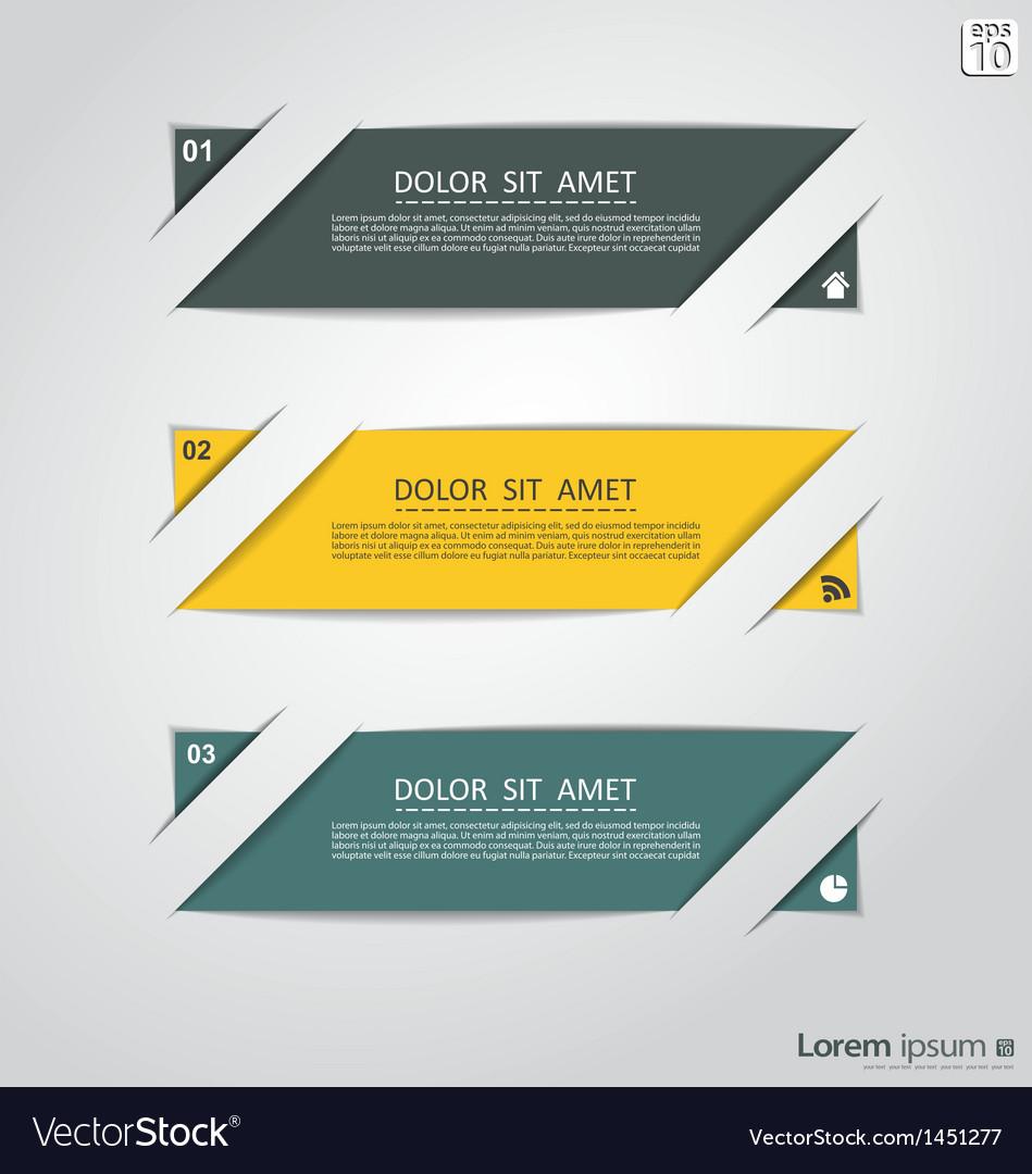 Retro inforaphic banners vector image
