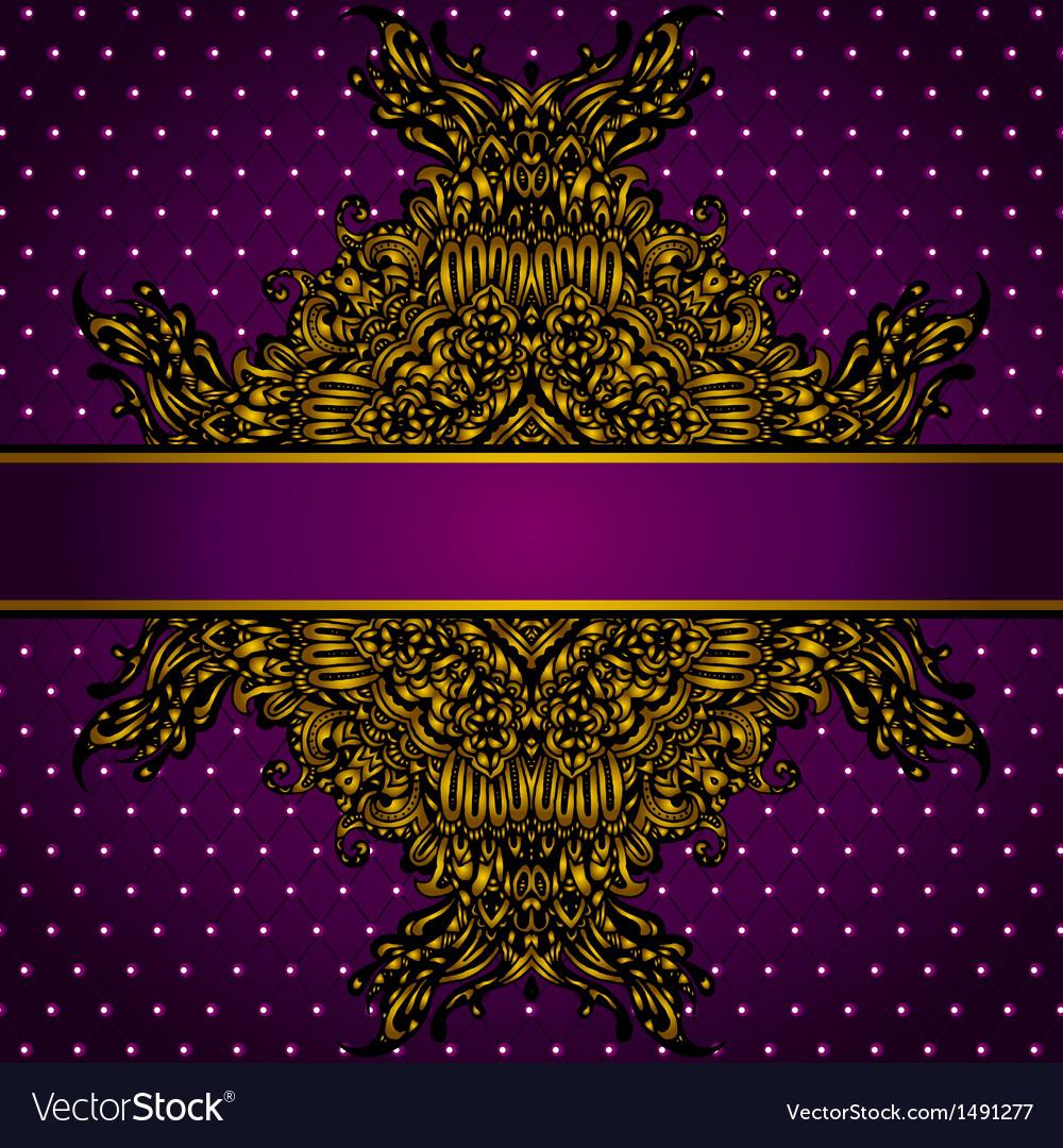Royal Golden Frame vector image