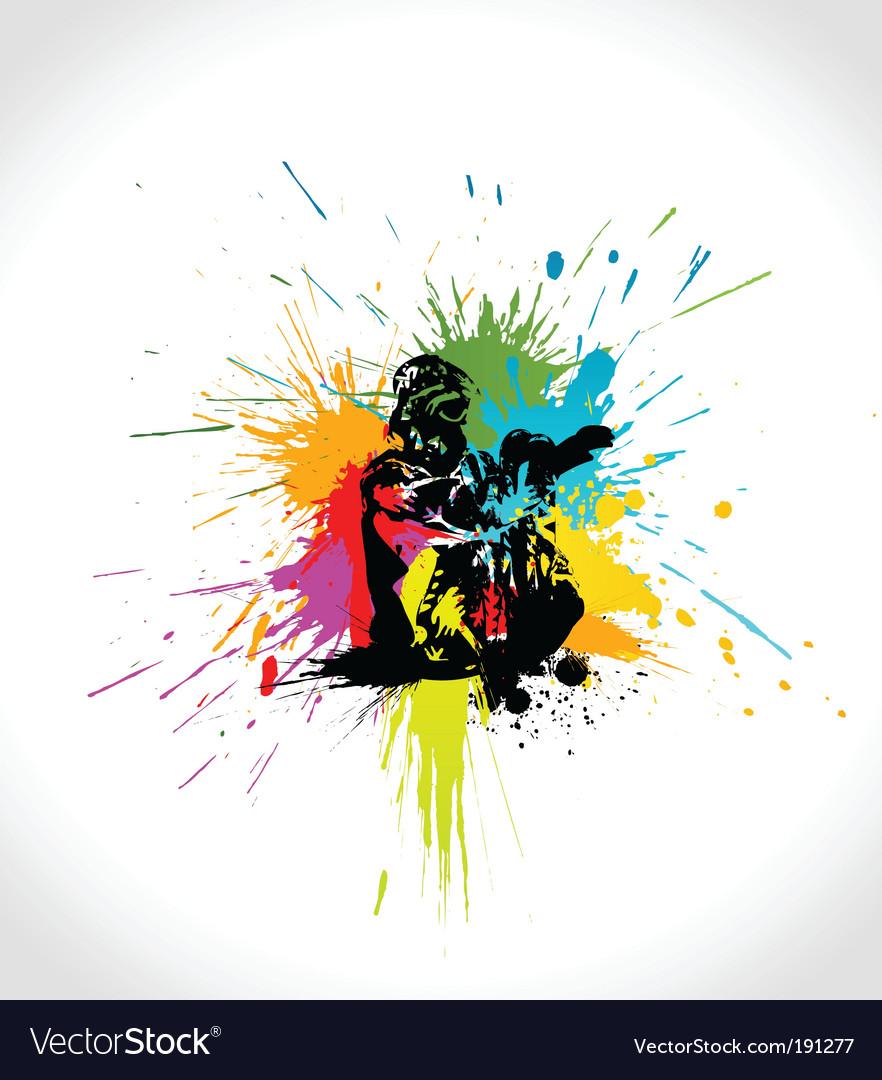 Ski artwork vector image
