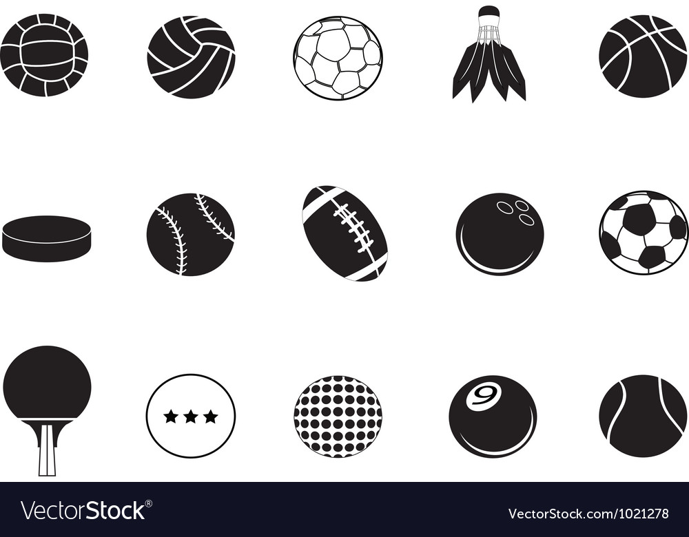 Ball icons collection vector image