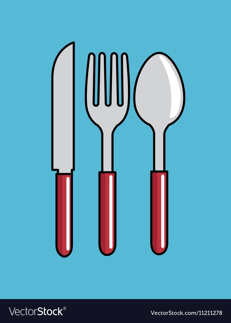 Cartoon spoon fork kni...