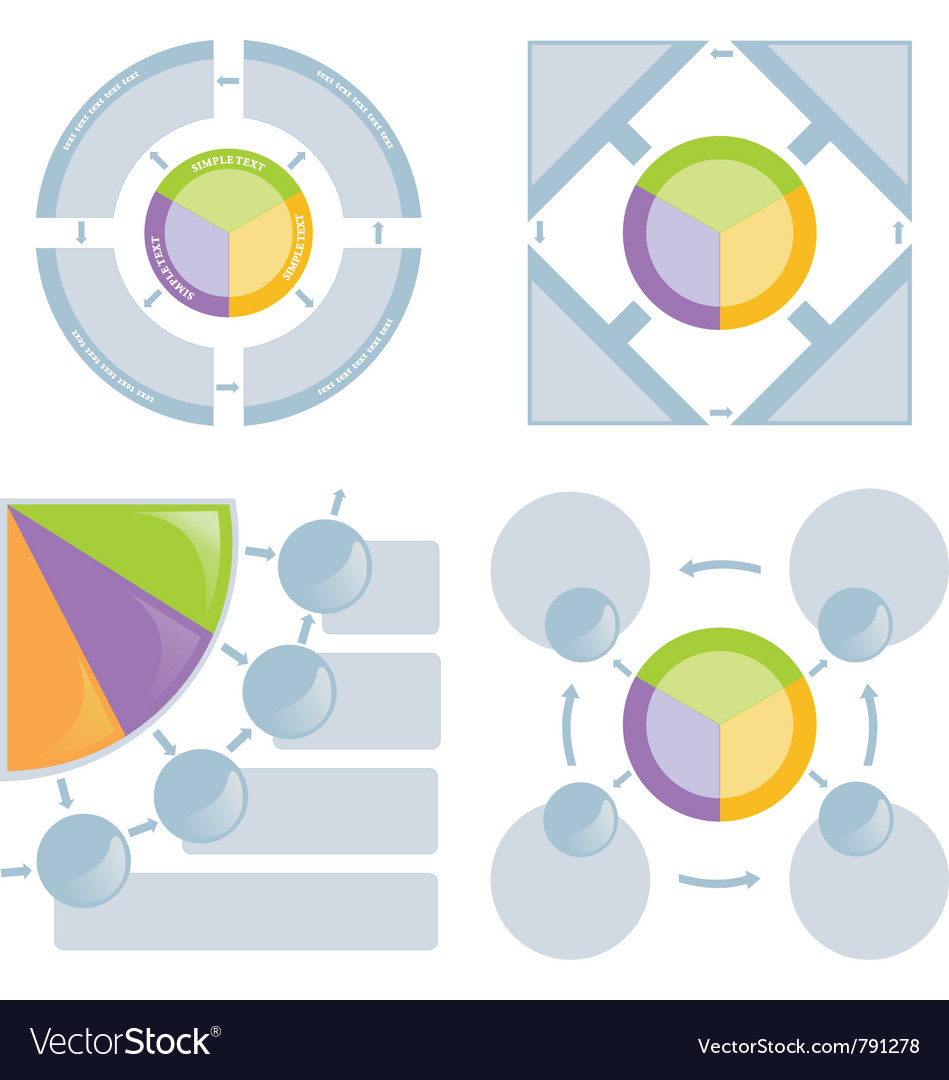 Set of chart flat vector image