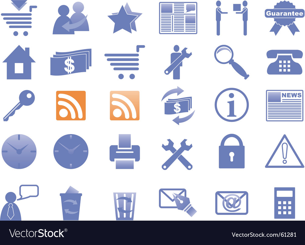Internet and website vector image