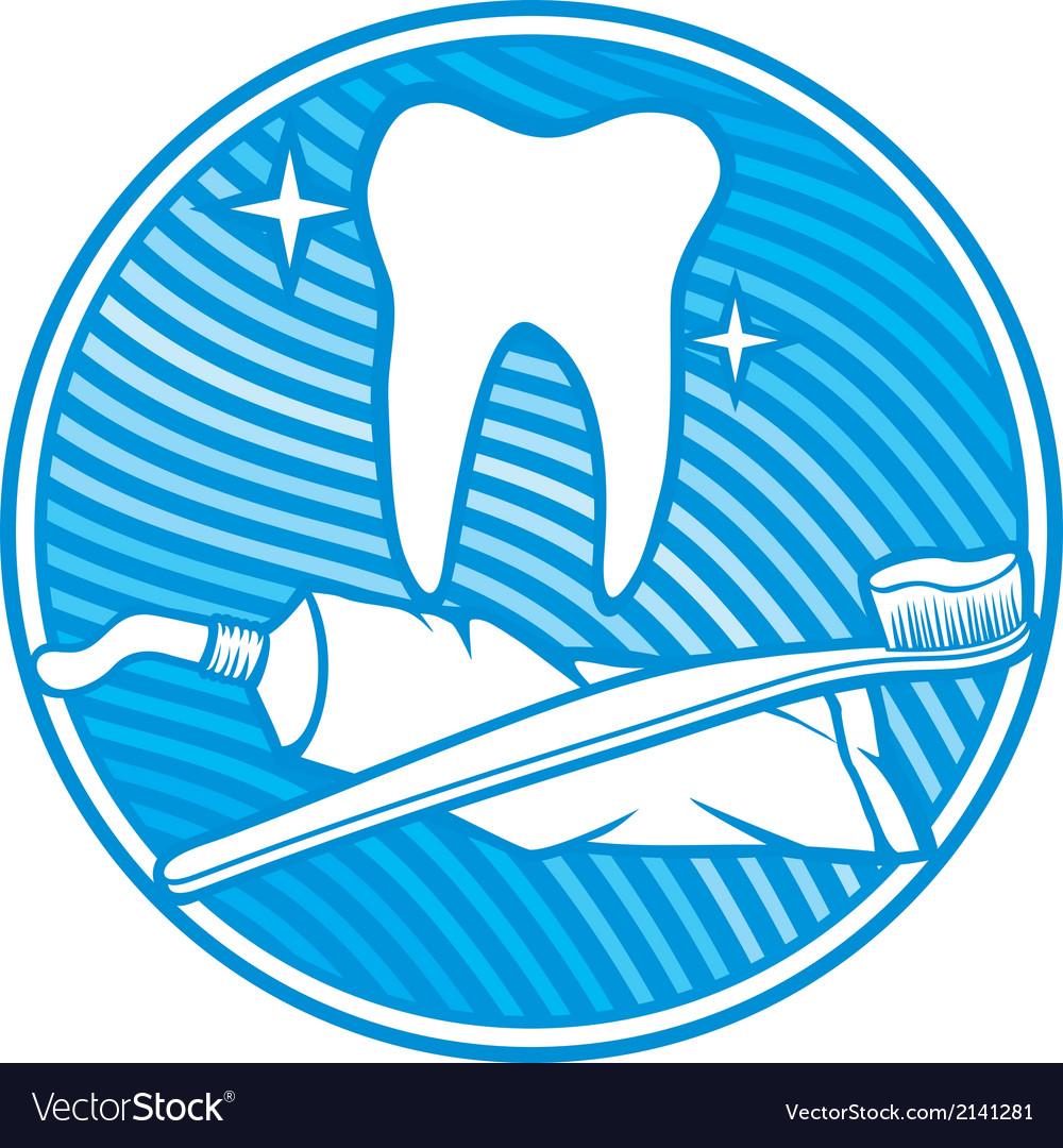 Dental symbol - tooth vector image