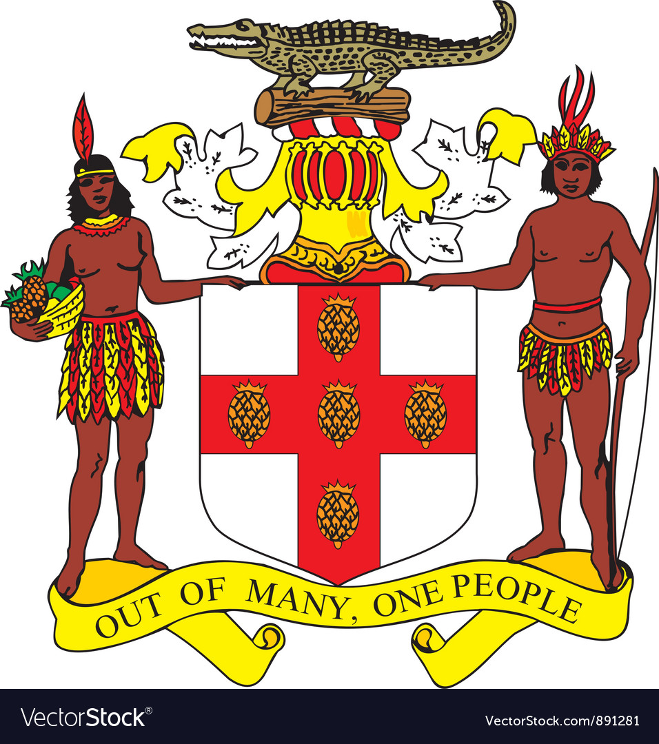 Jamaica coat-of-arms vector image